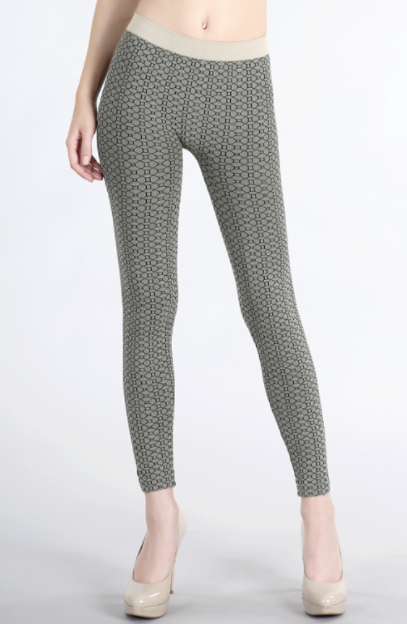 Textured Octagon Grey Leggings