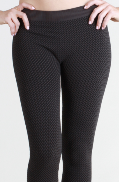 Grey 3 Tone CrissCross Leggings