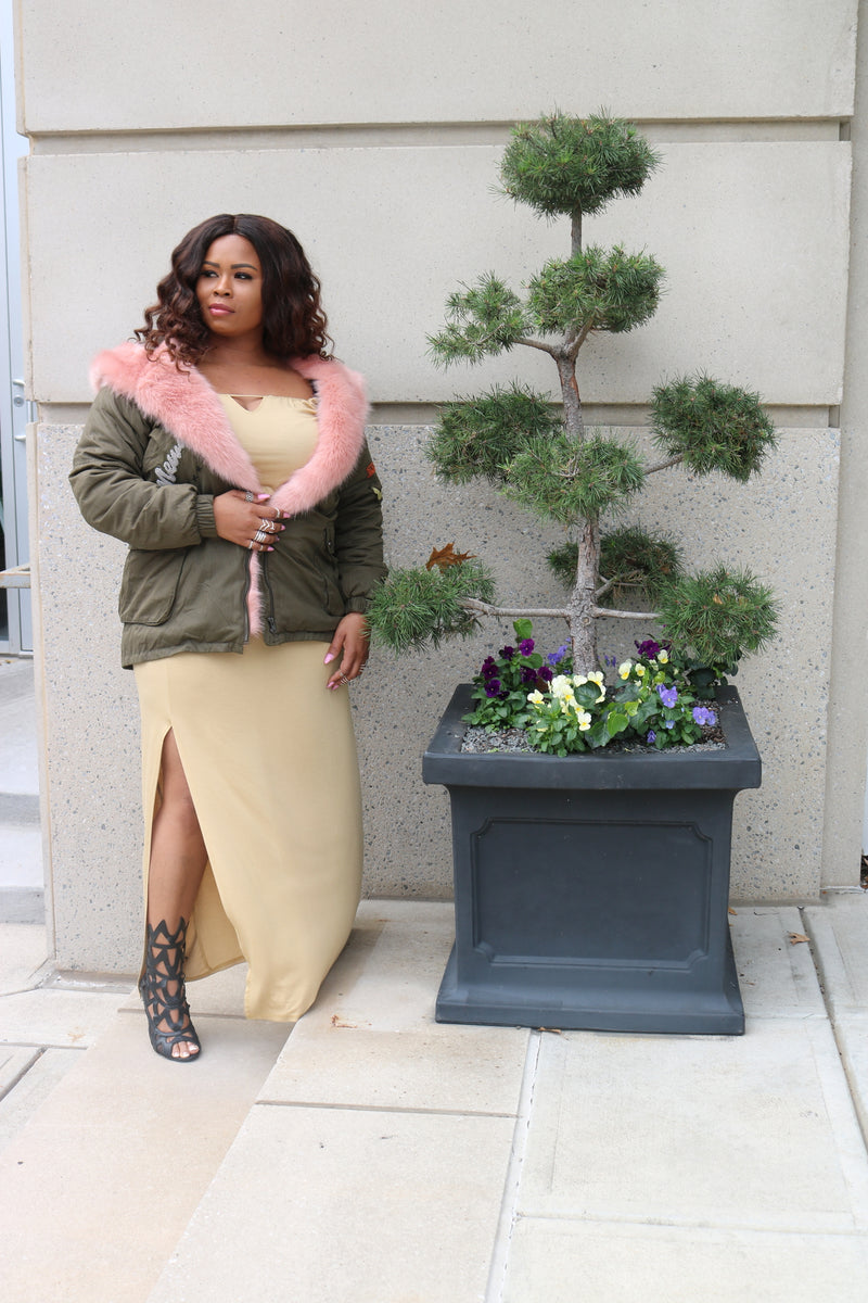 Military Olive/Pink - L'Amour Chic Boutique