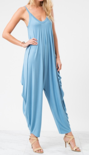 Blue Jay Jumpsuit - L'Amour Chic Boutique