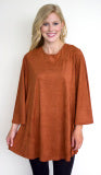 Microsuede Rust Tunic - L'Amour Chic Boutique