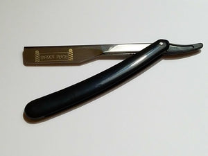 Black Barber Place Straight Razor Shavette With Blades