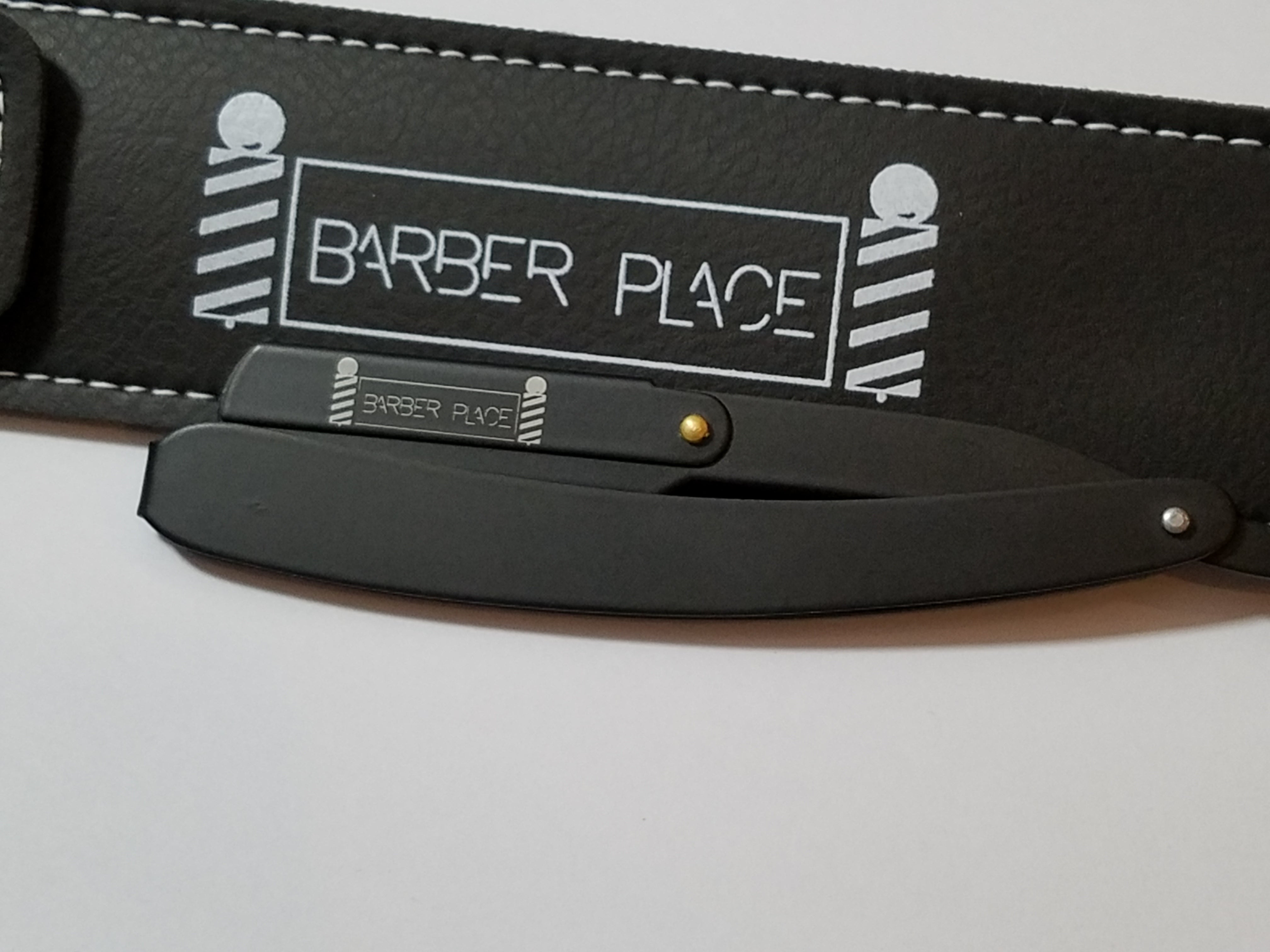 Black Matte Limited  Barber Place Straight Razor Shavette With Blades