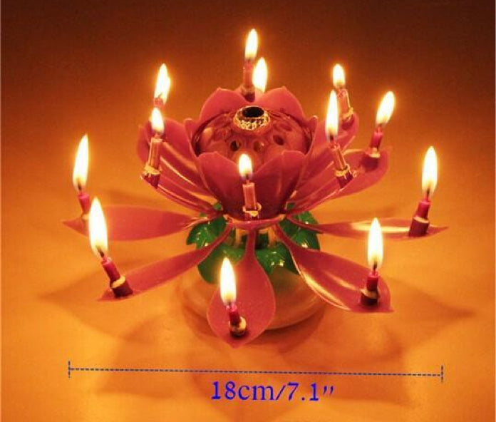MUSICAL FLOWER BIRTHDAY CAKE CANDLE