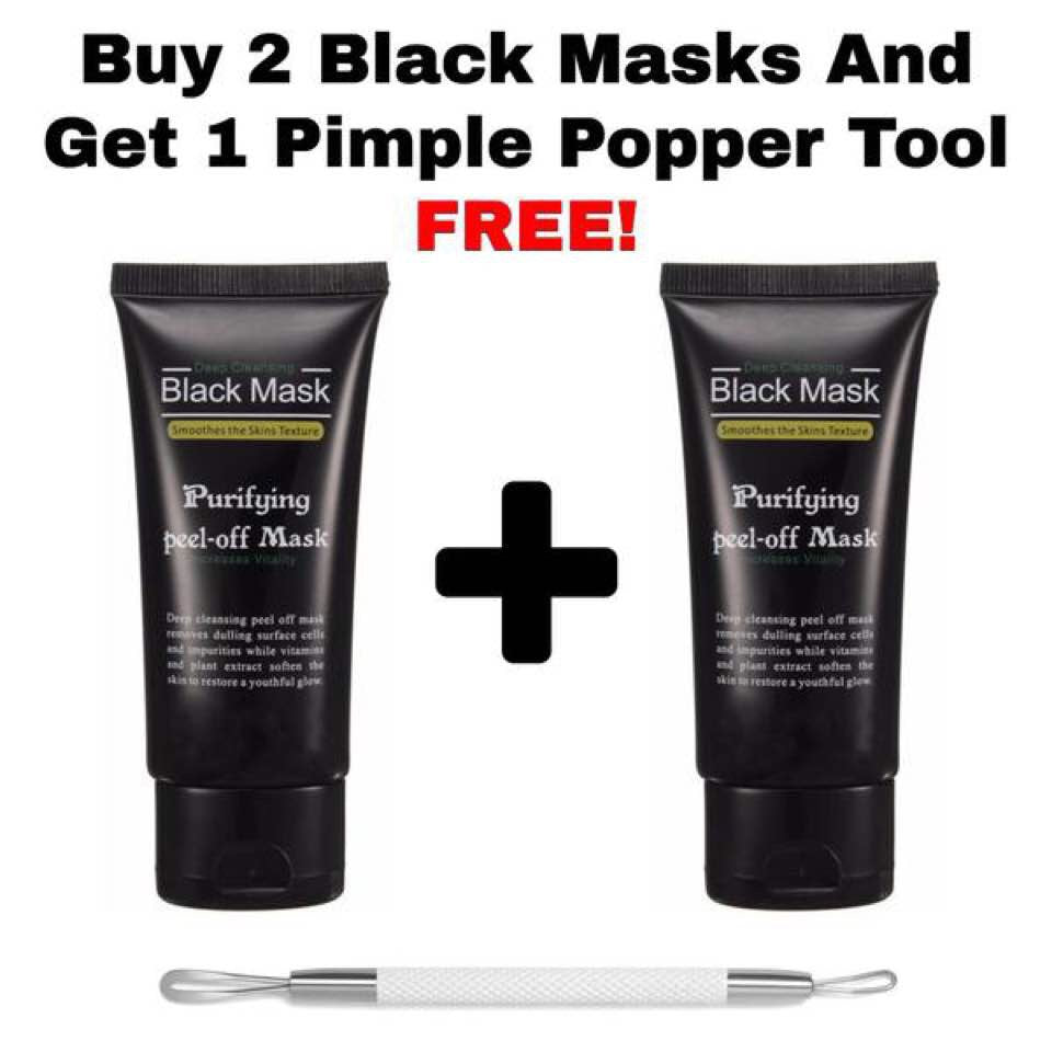 BUY 2 BLACK MASKS AND GET FREE PIMPLE POPPER!!!!!!