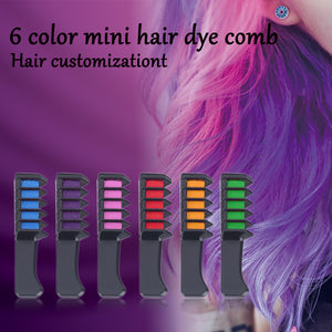MINI HAIR COLOR COMBS SET OF 6