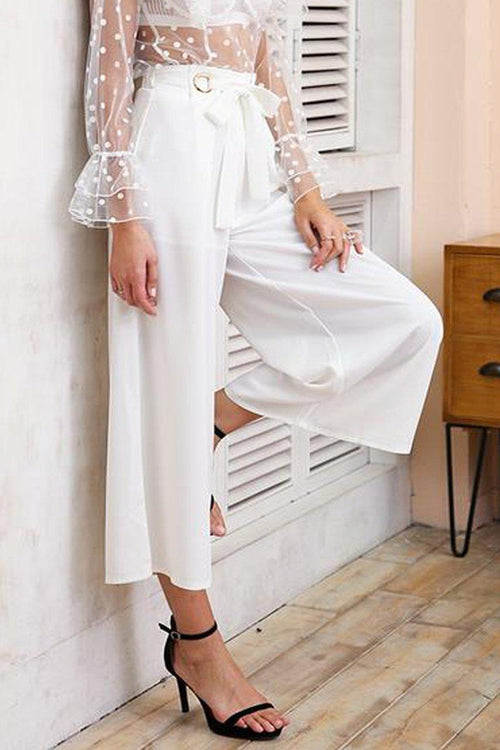High Waist Bow Tie Trousers