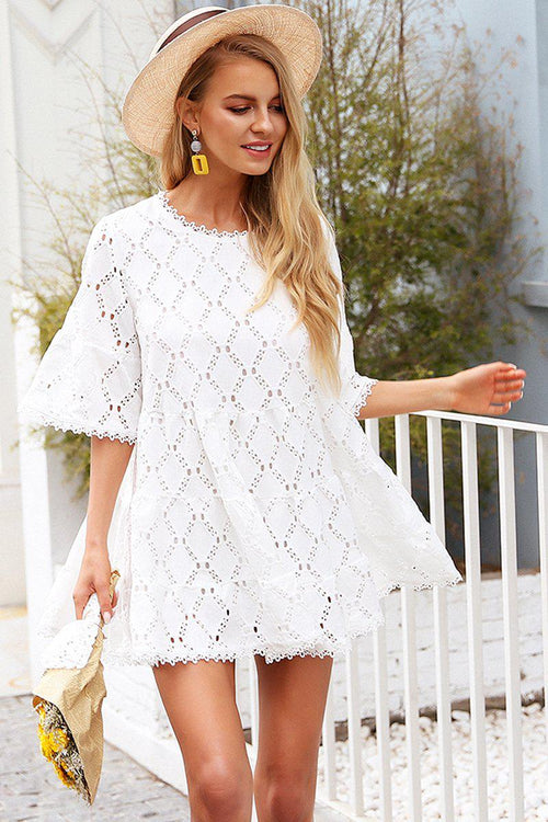 Boho Crochet Lace Dress