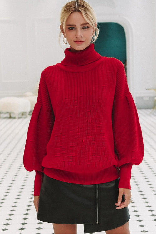 Red Balloon Sleeve Jumper