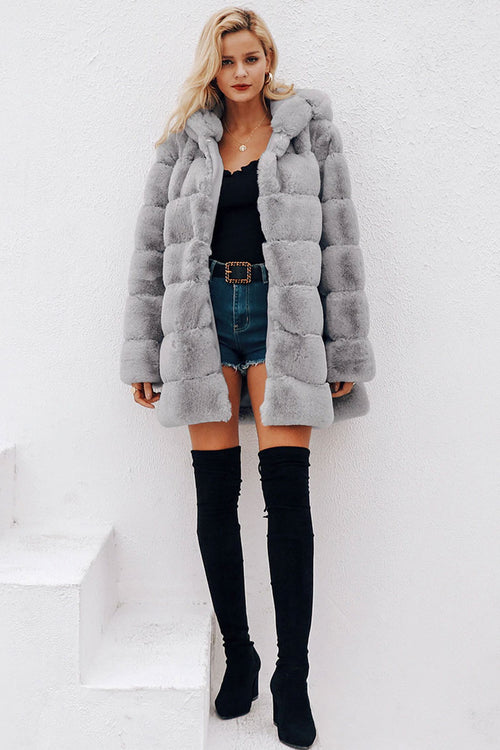 Nicole Grey Teddy Bear Coat