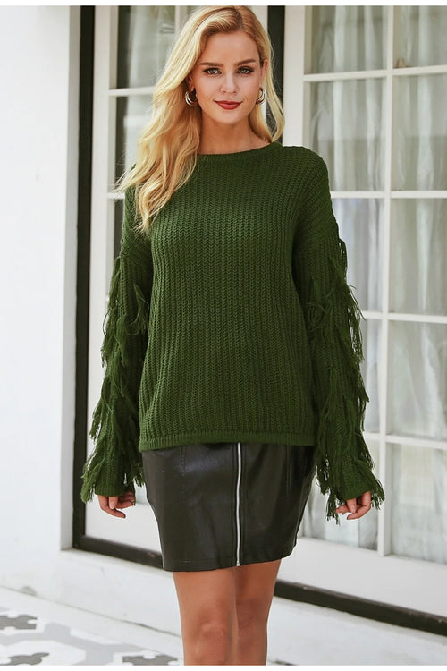Khaki Green Knitted Jumper