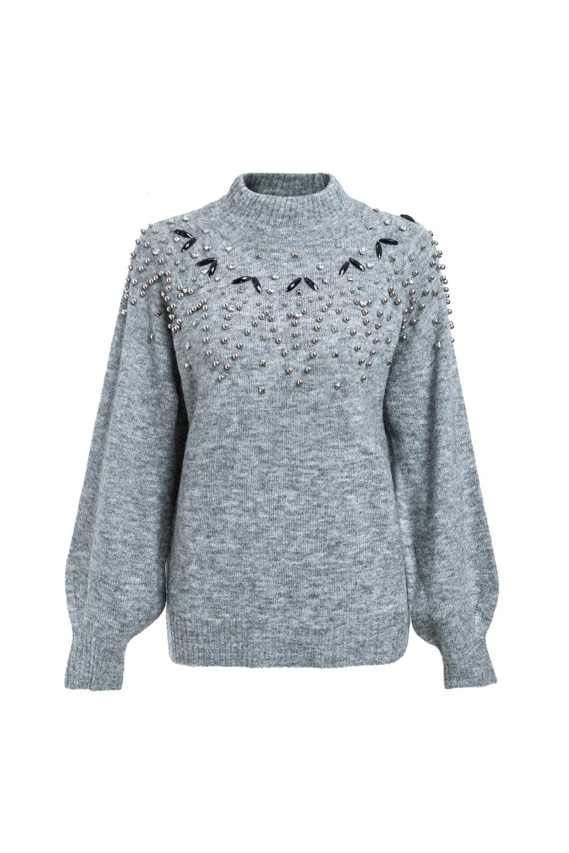 Grey Jumper With Stars