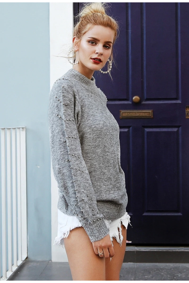 Embellished Sleeve Jumper