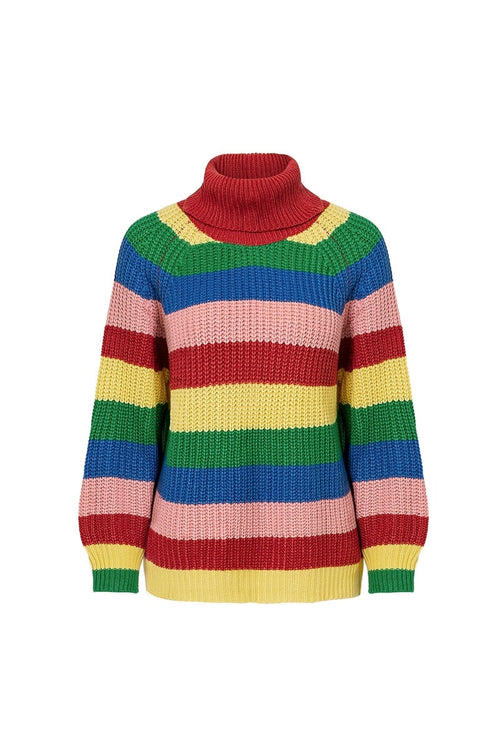 Rainbow Chunky Cable Knit Jumper