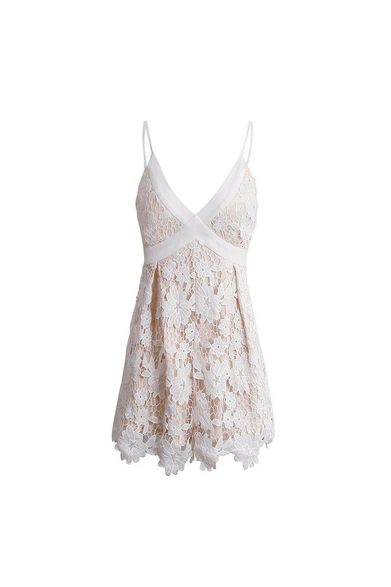 Floral Embroidered Lace Romper