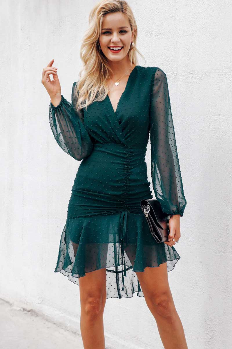 Mesh Long Sleeve Dress