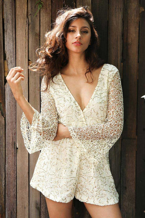 long sleeve dressy romper
