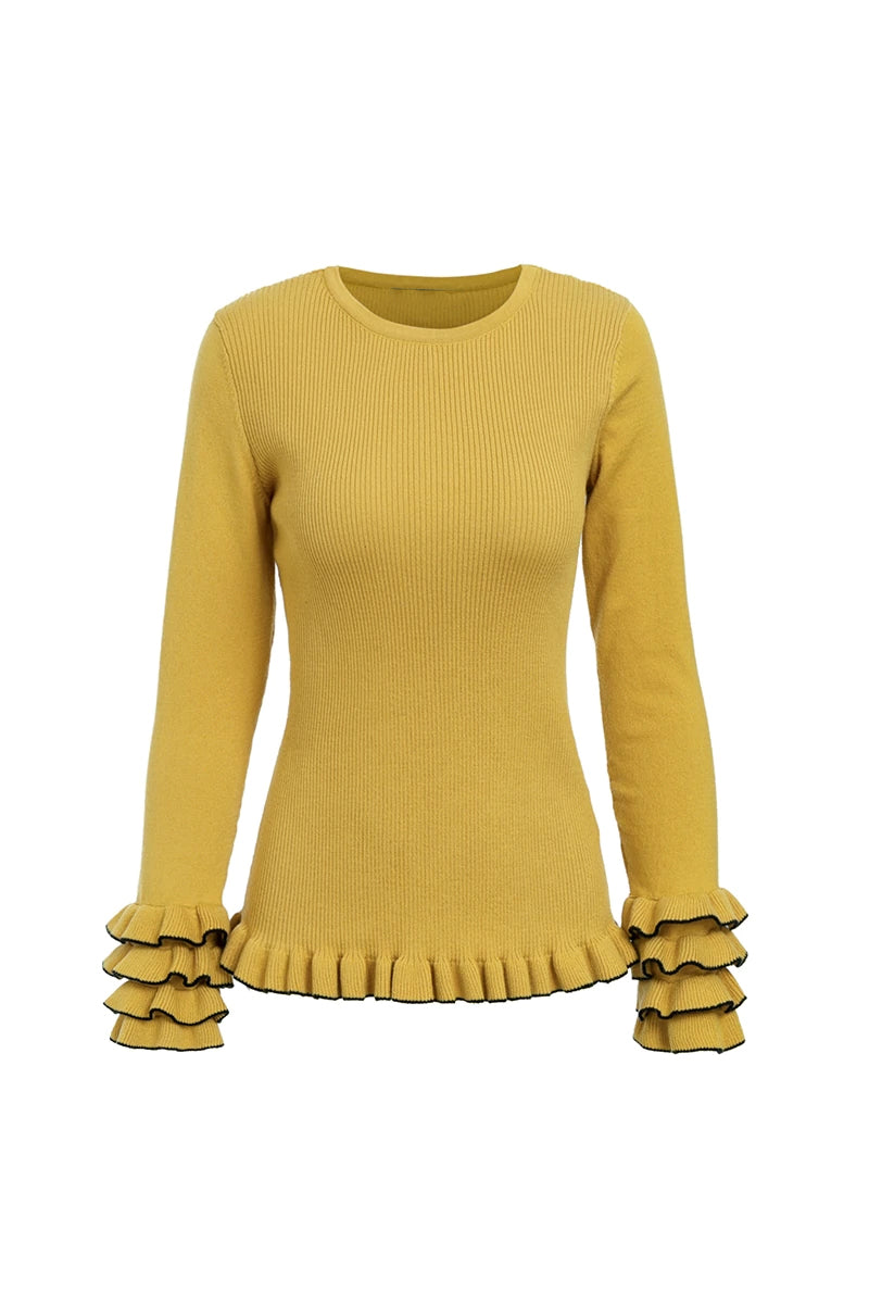 Ruffle Sleeve Jumper