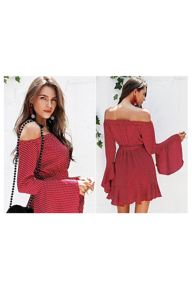 Red Polka Dot Frill Dress
