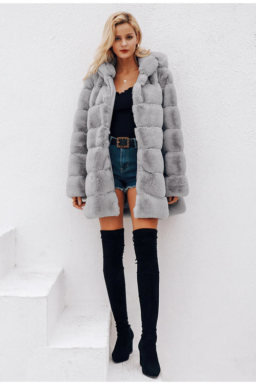 Nicole Black Teddy Bear Coat