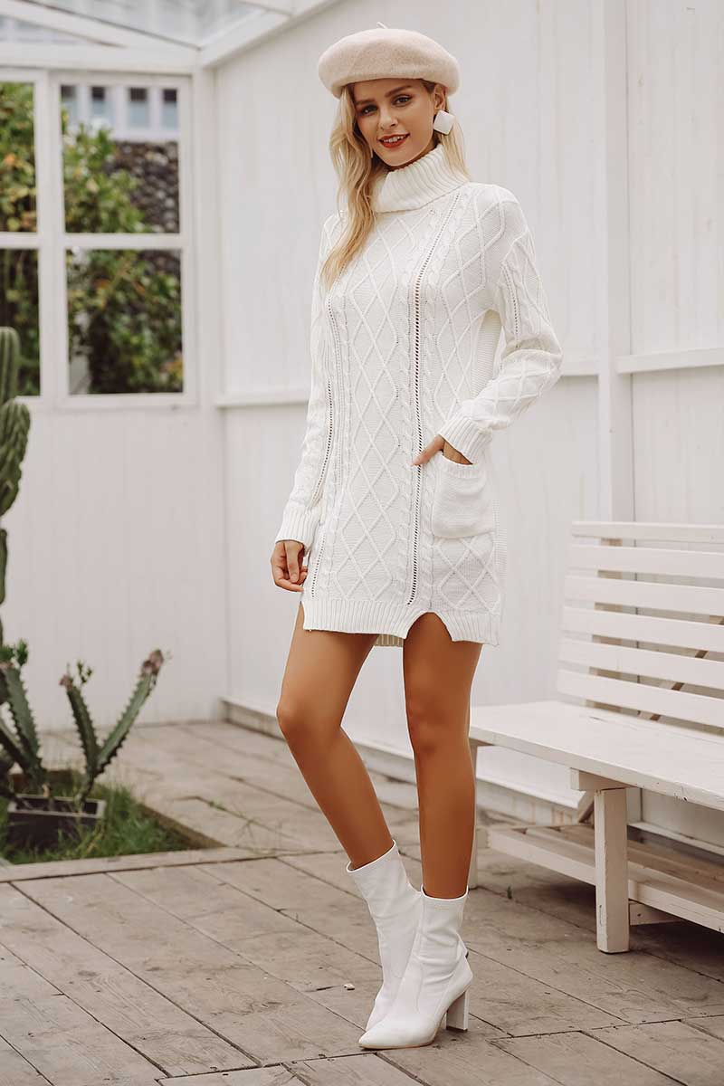 womens knitted jumper dress