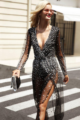 Claudette Gold Sequin Mini Dress