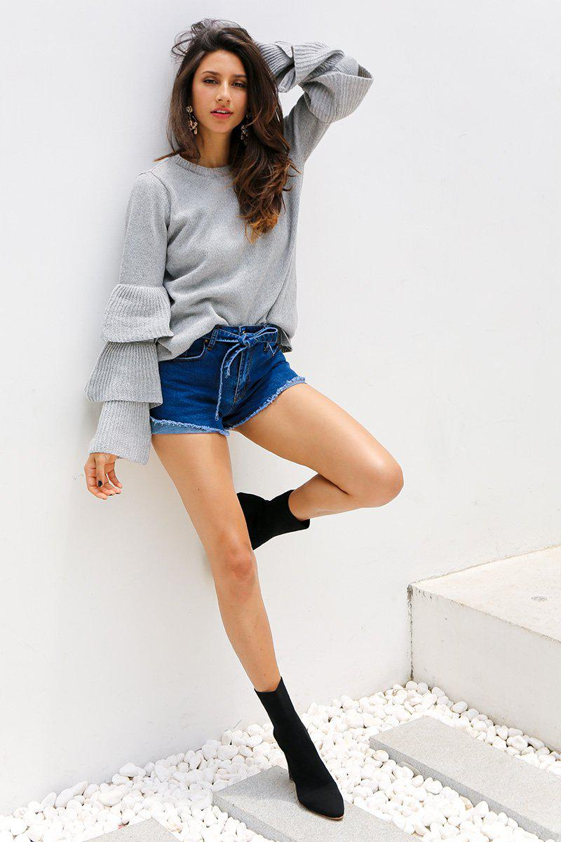 Knit Ruffle Sleeve Jumper