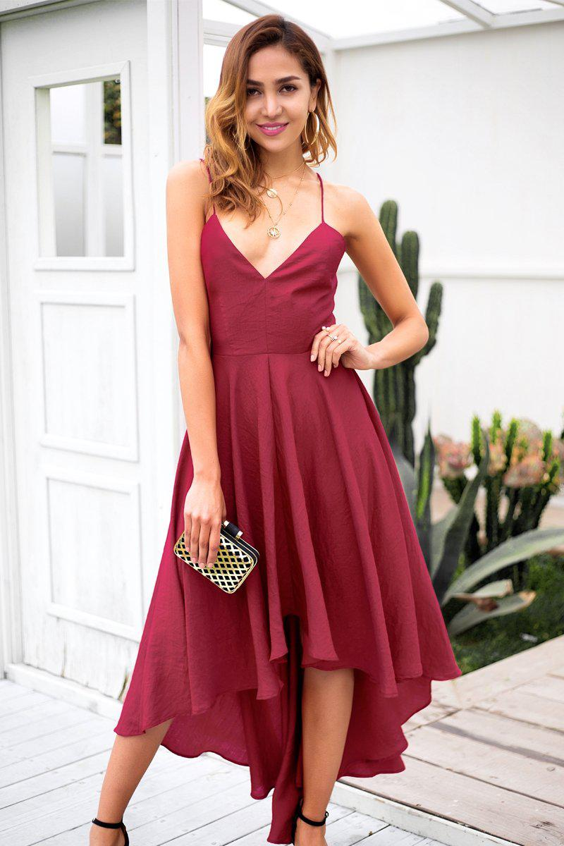 Asymmetric Hem Midi Dress