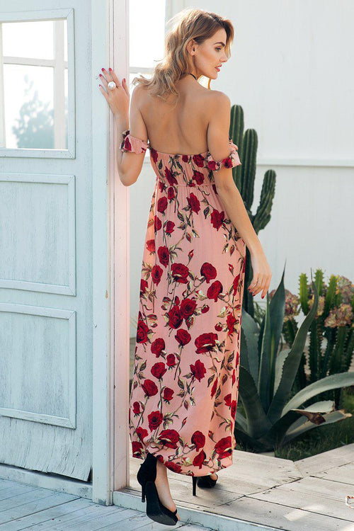 Bardot Floral High Split Dress