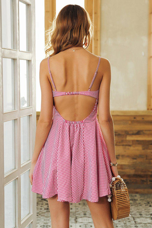 Checked Petite Skater Dress