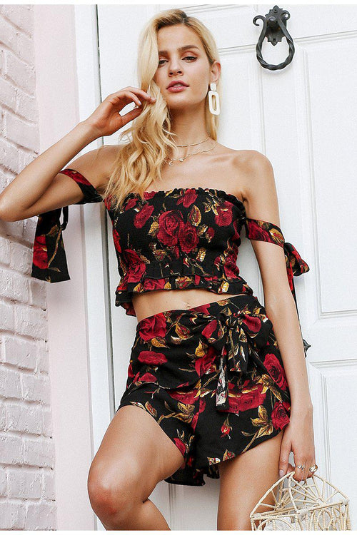 Floral Frill Two Piece Co-Ord Set