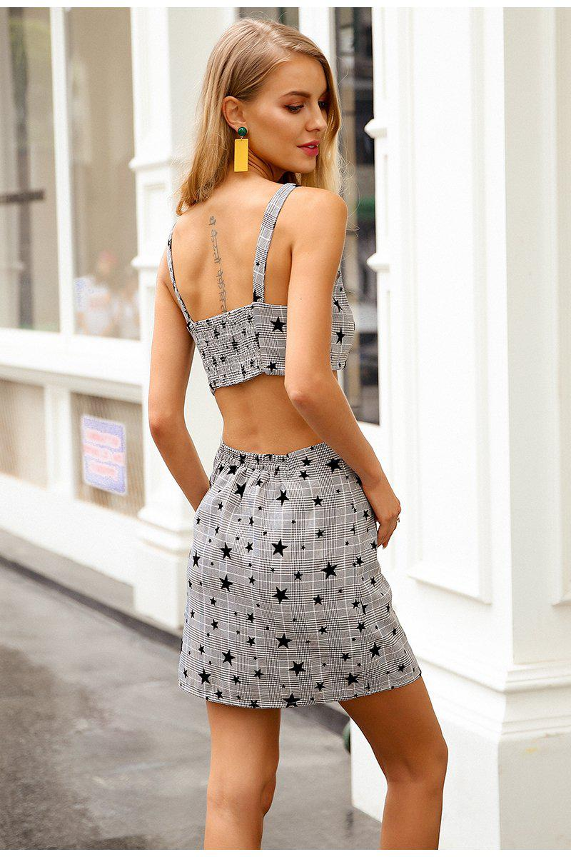 Checked Star Print Co-Ord Set