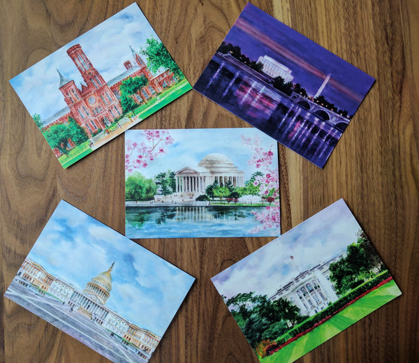 set of postcards from states