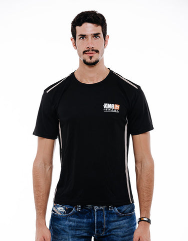 KMG Dri Fit Training Shirt for Men - Black & Grey