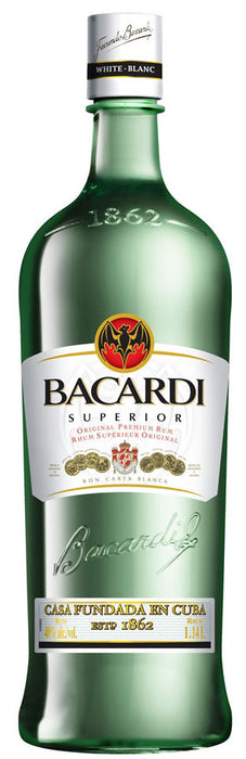 Bacardi Superior White Rum (1140ml)(plastic)