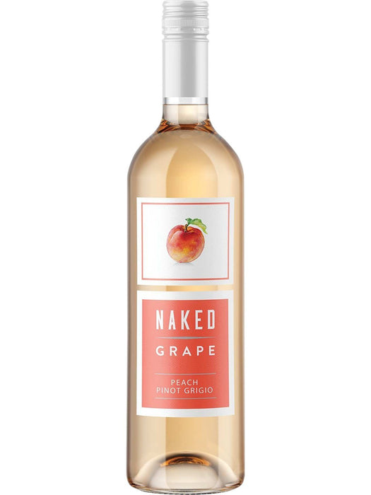Naked Grape White Peach Pinot Grigio White Wine (750ml)