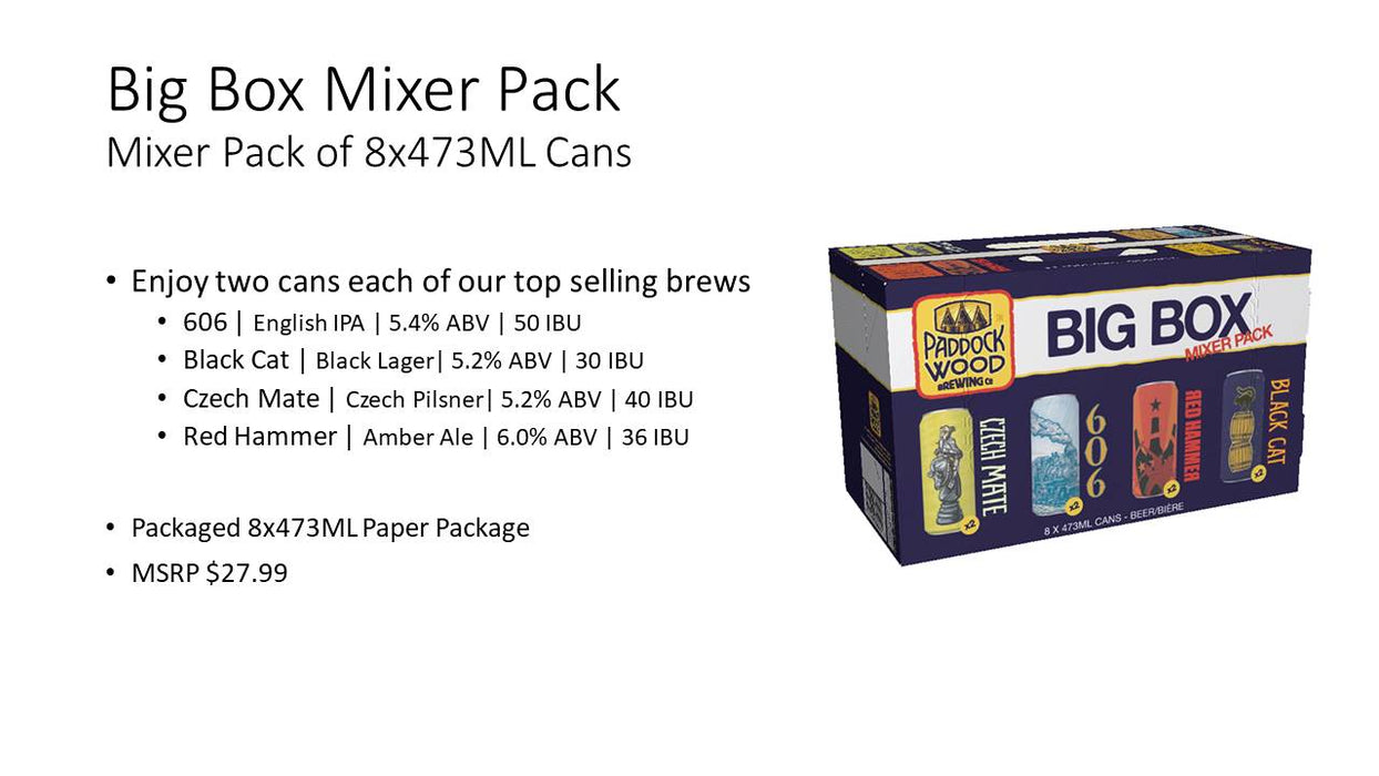 Paddock Wood Mixer Pack (8 Cans)