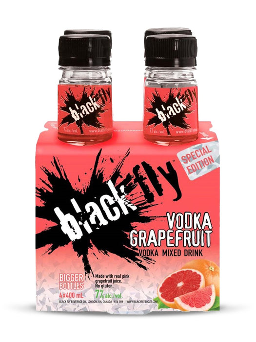 Black Fly Vodka Grapefruit (4 Bottles)