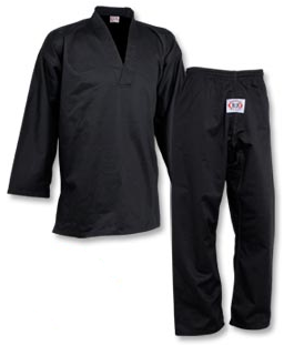 Black Belt V Neck Instructor Uniform