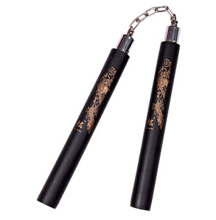Black Foam Safety Nunchaku - Ball Bearing