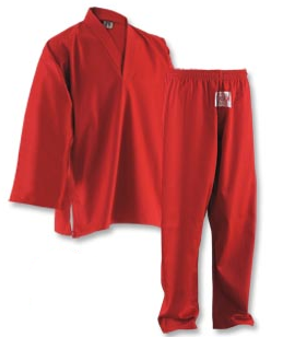 Red V Neck Student Uniform