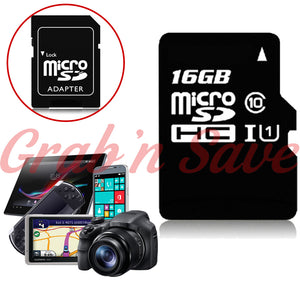 16GB Micro SD Card, Micro SD Card, Class 10 Micro SD Card