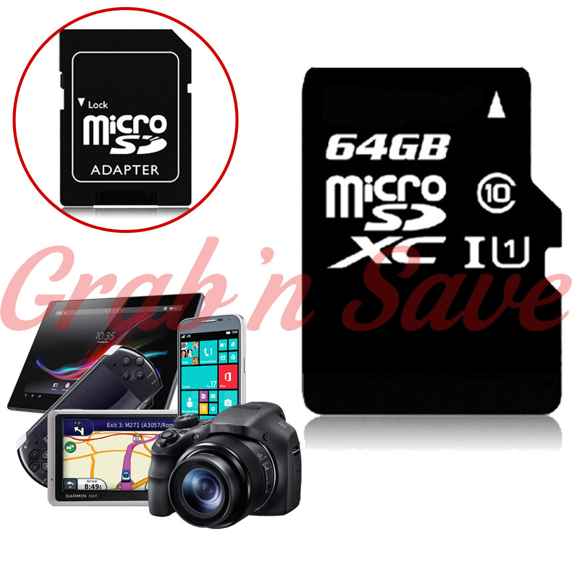 64GB Micro SD Card, Micro SD Card, Class 10 Micro SD Card