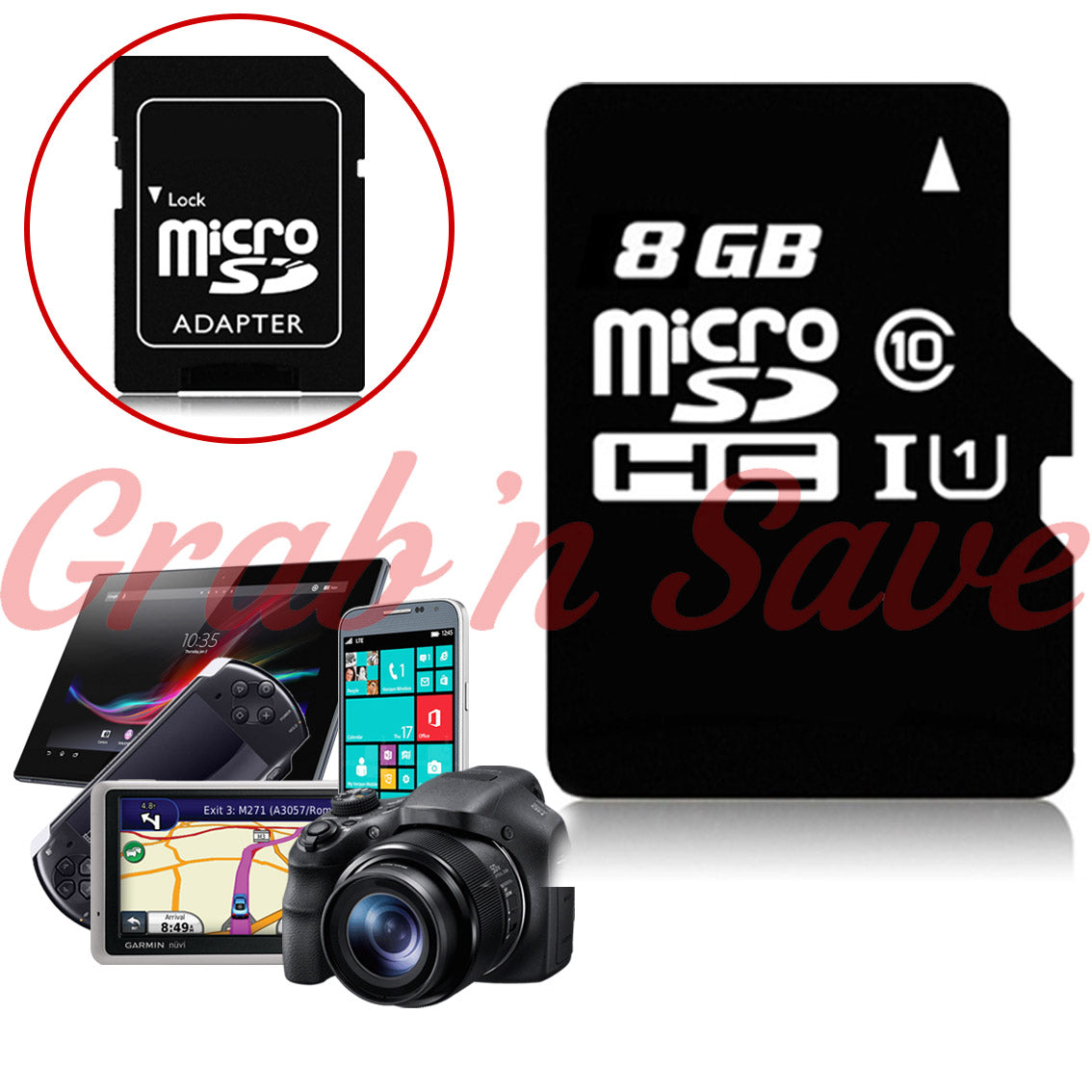 8GB Micro SD Card, Micro SD Card, Class 10 Micro SD Card