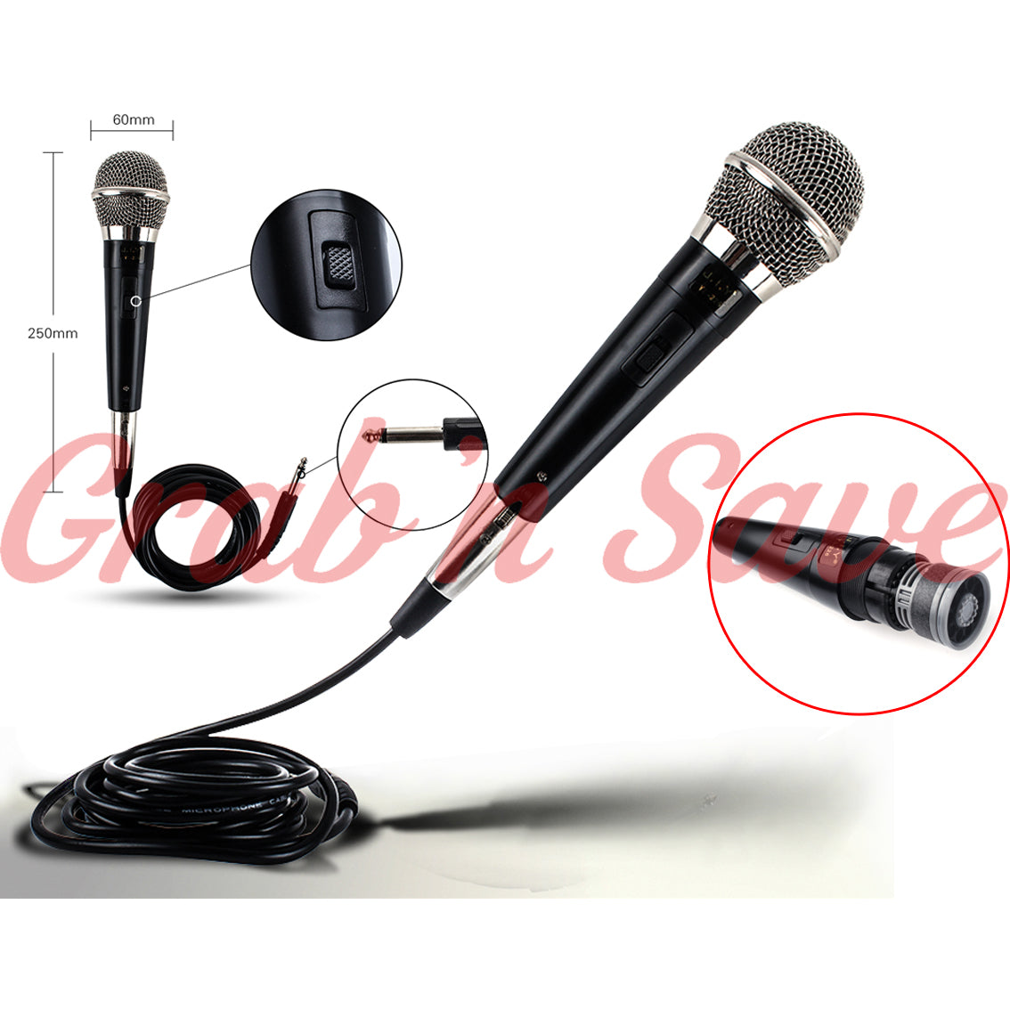 Dynamic Microphone, Microphone, Dynamic Vocal Microphone