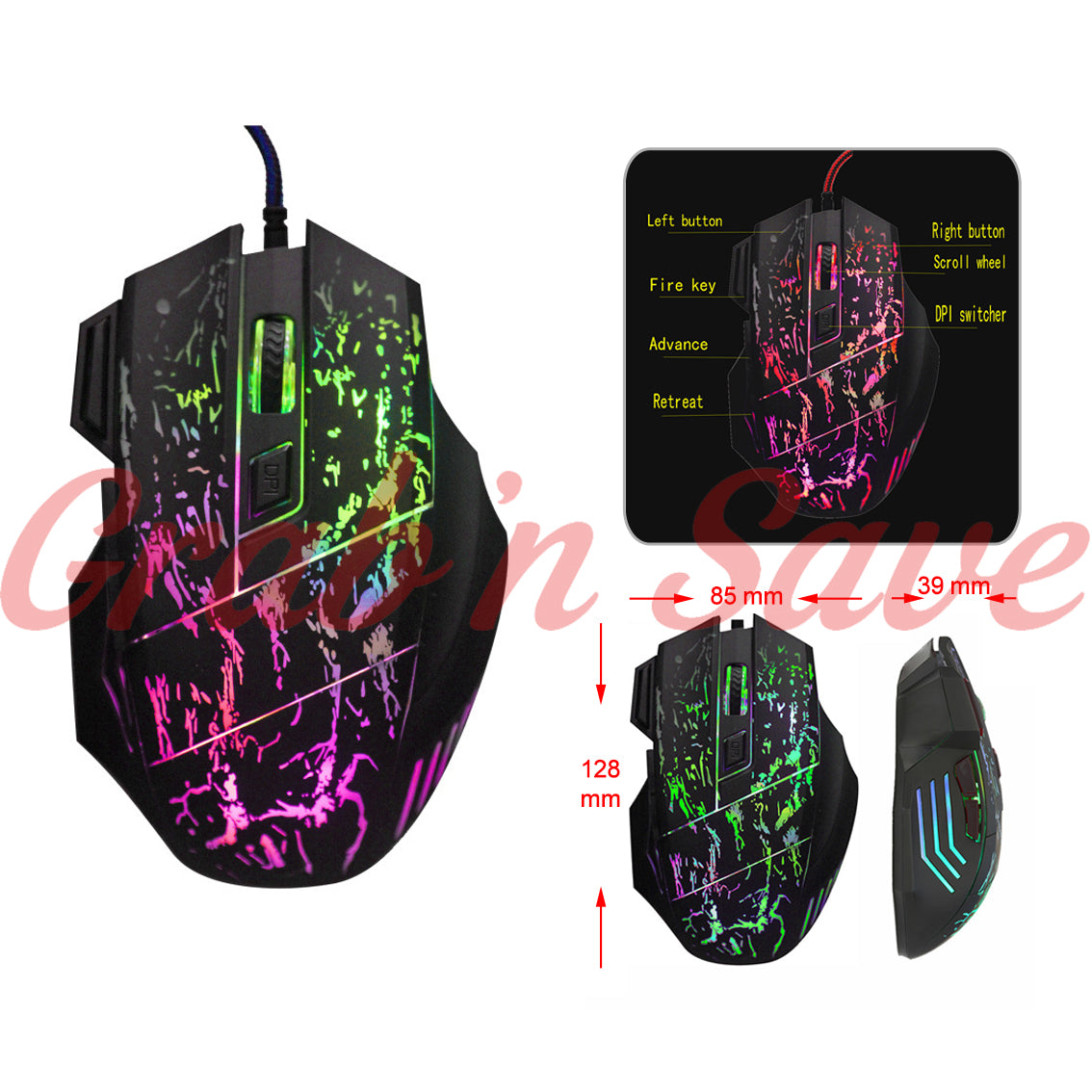Gaming Mouse. Mouse, Computer Gaming Mouse