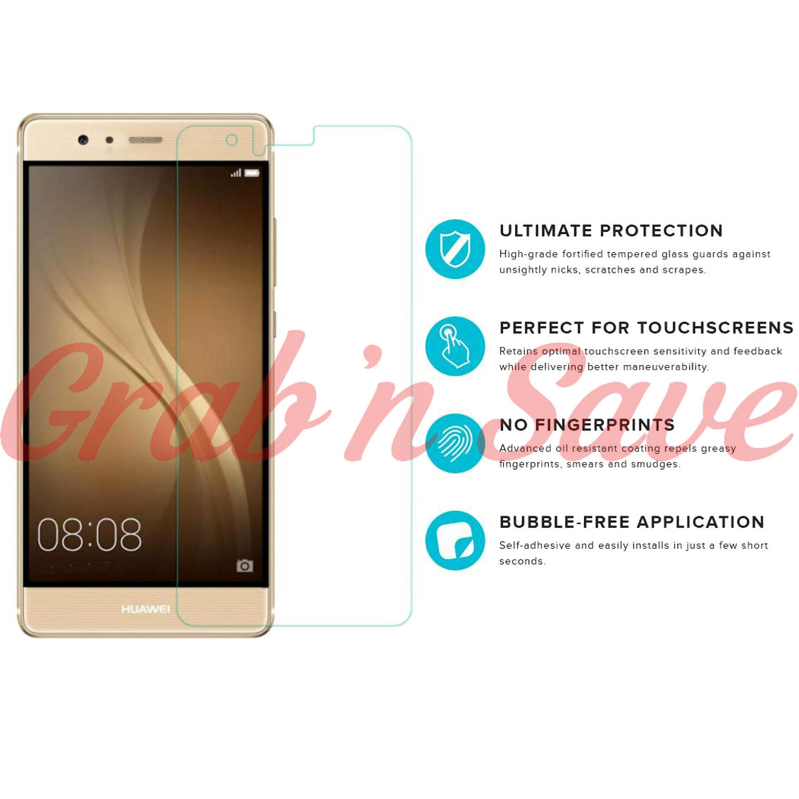 Huawei P9 Screen Protector, Glass Screen Protector, Tempered Glass Screen Protector
