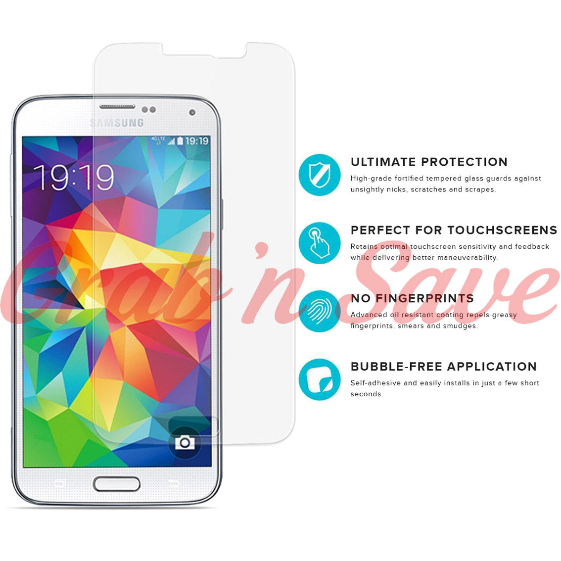 Samsung S5 Screen Protector, Glass Screen Protector, Tempered Glass Screen Protector