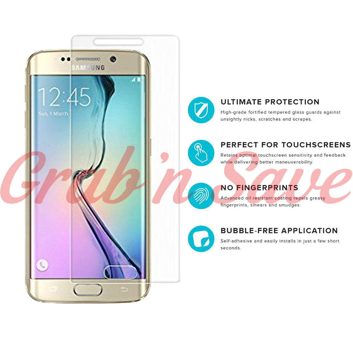 Samsung S6  Edge Screen Protector, Glass Screen Protector, Tempered Glass Screen Protector