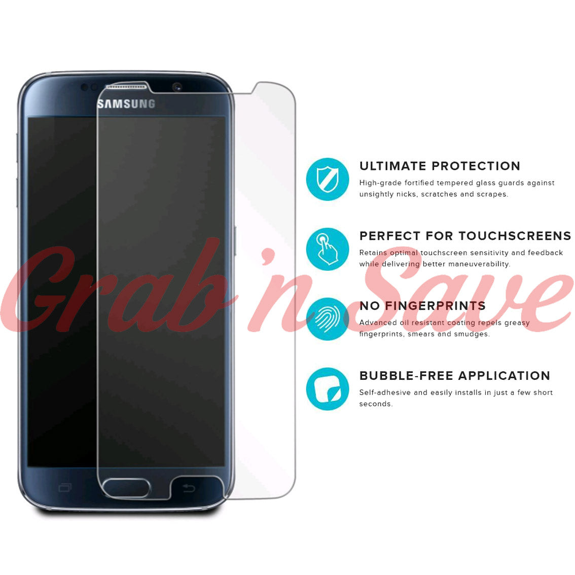 Samsung S7 Screen Protector, Glass Screen Protector, Tempered Glass Screen Protector